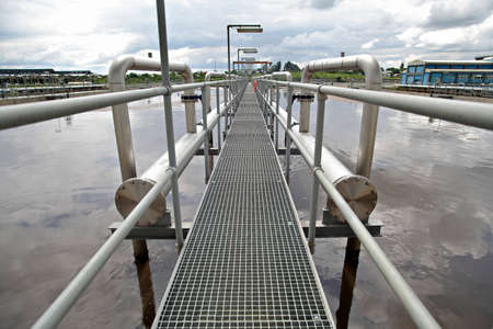 View of some water treatment plant facilities  photo
