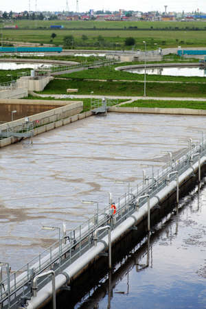 View of some water treatment plant facilities  Stock Photo - 13999842