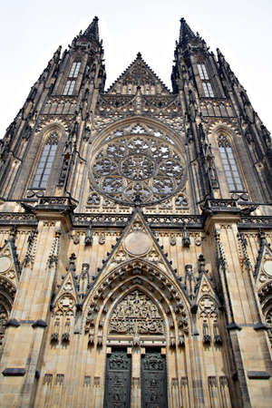 View of the St.Vitus Cathedral in Prague, Czech Republic.  photo