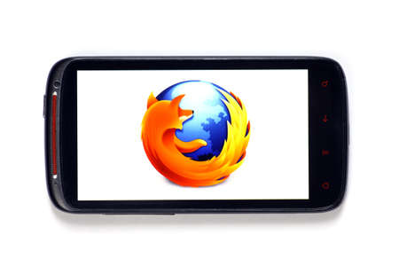 Bucharest, Romania - June 23, 2012: Android smartphone with the Firefox logo displayed on the screen using a picture viewing software. Mozilla Firefox is a free and open source web browser developed by Mozilla Corporation. Editorial