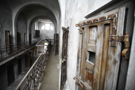 Color picture of an old abandoned prison Stock Photo - 16531659