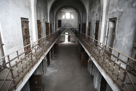 Color picture of an old abandoned prison