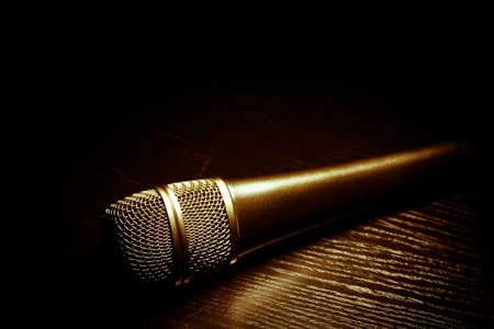 Studio shot of a microphone, on black Stock Photo - 17999823