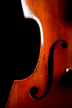 classical music: Color detail of a vintage double bass