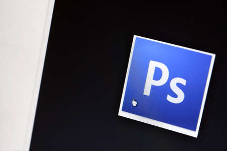Bucharest, Romania - March 9, 2013: Adobe Photoshop logo is displayed on a computer screen. Adobe Photoshop is a program for graphics editing produced by Adobe Systems.