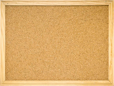 Color shot of a brown cork board in a frame  Stock Photo