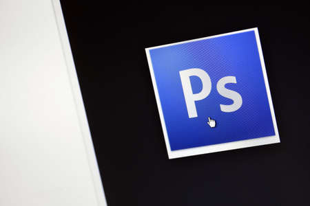 photoshop: Bucharest, Romania - March 9, 2013: Adobe Photoshop logo is displayed on a computer screen. Adobe Photoshop is a program for graphics editing produced by Adobe Systems. Editorial