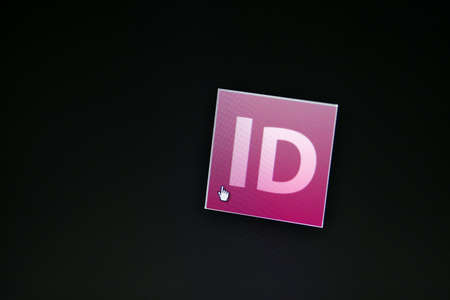 Bucharest, Romania - March 9, 2013: Adobe InDesign  logo is displayed on a computer screen. Adobe InDesign is a desktop publishing software application produced by Adobe Systems.