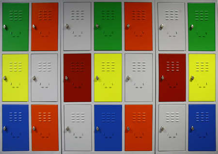 Color shot of some lockers in a highschool Reklamní fotografie - 20825207