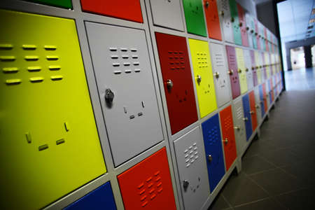 Color shot of some lockers in a highschool Reklamní fotografie - 20825403