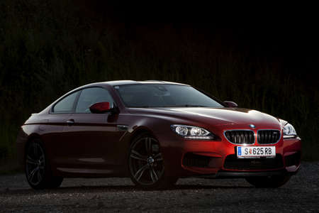 bmw: Bucharest, Romania - August 4, 2013: Color shot of a BMW M6 car. The BMW M6 is a high-performance version of the BMW 6-Series, developed by BMWs motorsport division, BMW M.