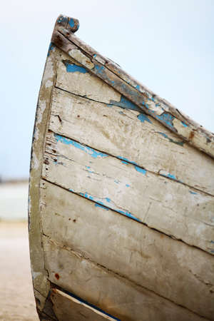 Detail of a boat with remains of blue paint photo