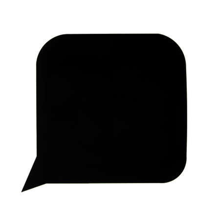 A black speech bubble with white around it photo