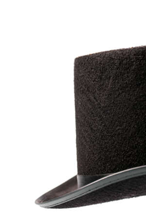 A vintage top hat isolated on white. photo