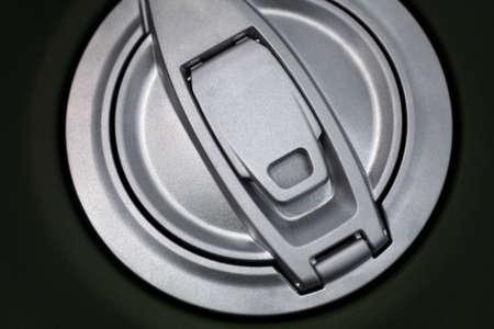 lose up: Color lose up shot of a motorcycle fuel tank cap.