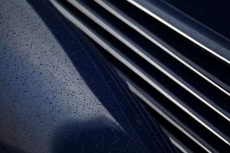 grille': Color picture of a vintage cars grille. Stock Photo