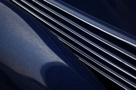 grille: Color picture of a vintage cars grille. Stock Photo