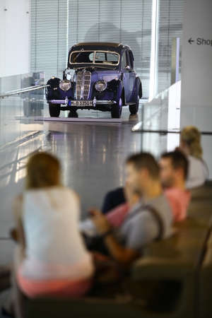 bmw: Munich, Germany - June 7, 2015: BMW 327l28 at the BMW Museum, an automobile museum in Munich, Germany.