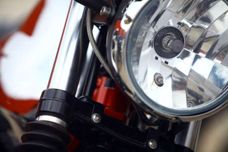 headlight: Color image of a classic motorcycle headlight.