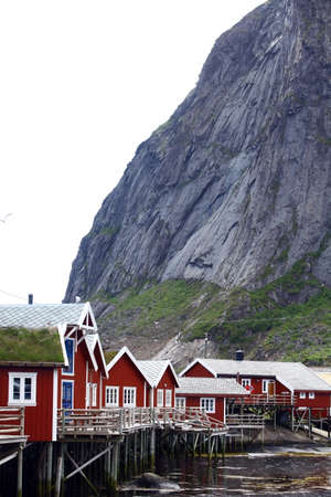 fishing cabin: Color image of some traditional houses in Reine, Lofoten Islands, Norway.