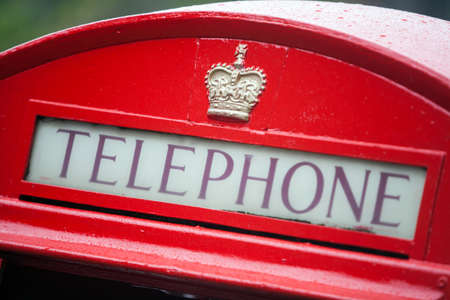 phonebooth: Color image of a vintage red London telephone booth.