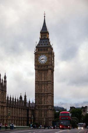 big ben tower: London, UK - July 20, 2015: Color image of Big Ben tower in London, UK.