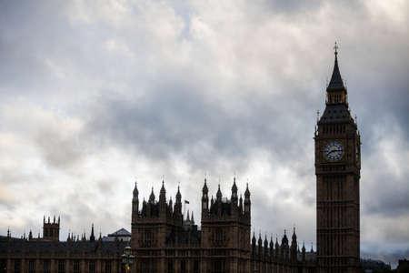 big ben tower: Color image of Big Ben tower in London, UK.