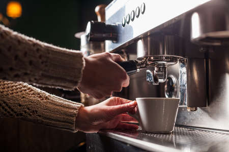 machine: Color image of an espresso making machine. Stock Photo