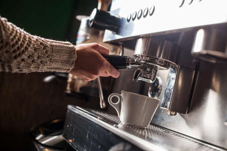 expresso: Color image of an espresso making machine. Stock Photo