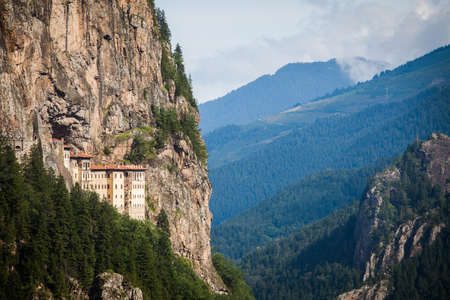 Color image of the Sumela monastery in Turkey.