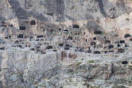 dwellings: Color image of some cave dwellings in Vardzia, Georgia.