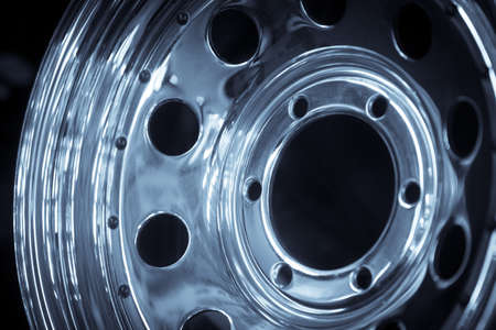 aluminum wheels: Close up shot of a new car rim. Stock Photo