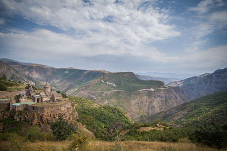tatev: Color image of the Tatev monastery in Armenia.