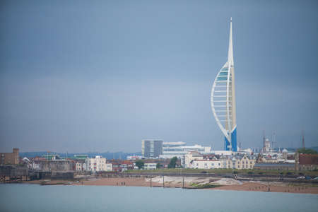 Pertsmouth, UK - June 23, 2016: General view of the Spinnakxer tower, a construction in Portsmouth, UK.