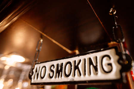 Close up shot of a no smoking sign. Banque d'images - 104203678