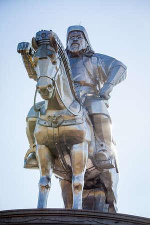 Genghis Khan Monument at Zonjin Boldog Mongolia.