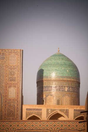 Color image with a dome in Bukhara, Uzbekistan. Stock Photo
