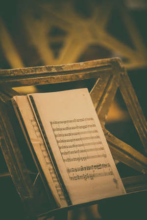 Close up shot of a music sheet with notes.