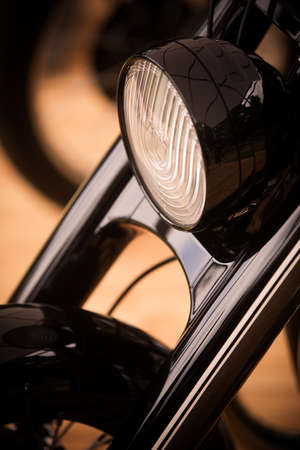 Color image of a modern motorcycle headlight.