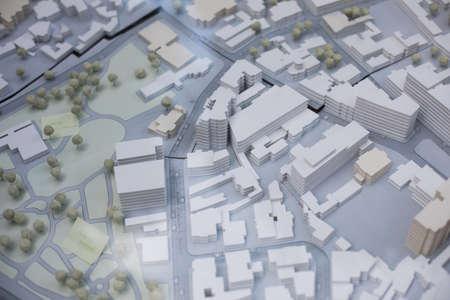 Close up shot of a scale model for an office district. Reklamní fotografie