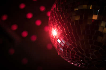 Color image of a shiny disco ball in a night club. Reklamní fotografie