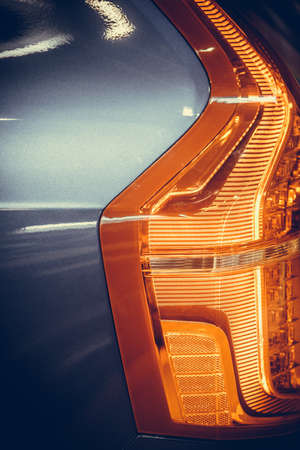 Close up horizontal image of the LED tail lights of a new car. Reklamní fotografie