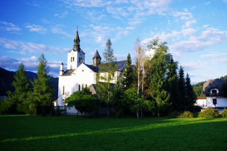 hallowed: Church in mountain in small village