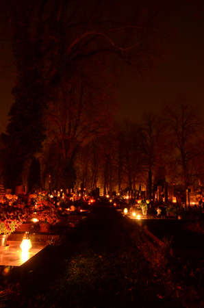 all souls day: Cemetery in the time of all souls day
