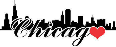 Love Chicago Vector Silhouette