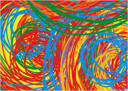 Scribble, knitting Colorful Background Lines