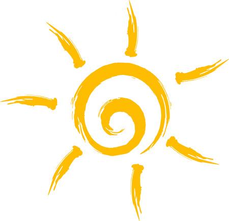 sunny day: Icono de sol Vectores