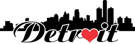 Detroit,Michigan love detroit Illustration