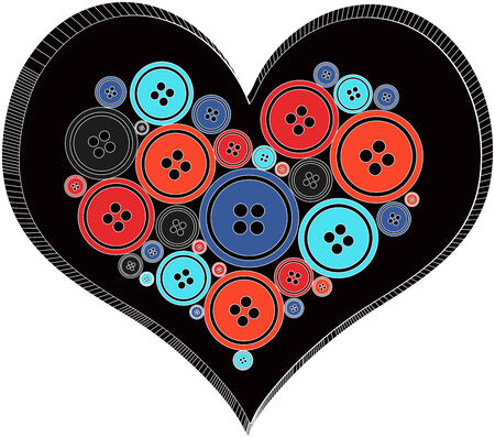 sacking: Heart made out of Buttons