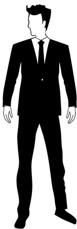 Jonge Zakenman Knappe man logo Stock Illustratie